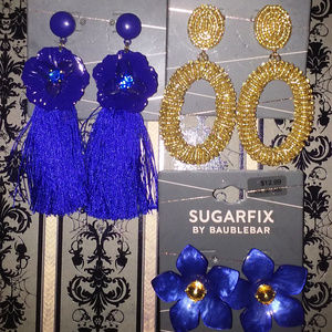 3pc SUGARFIX By BAUBLEBAR FLOWER/BEAD EARRINGS